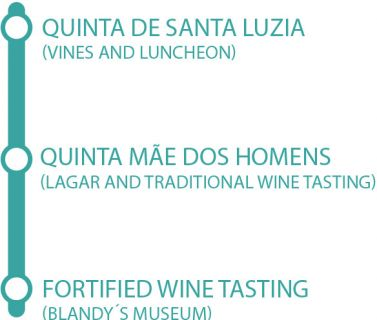 Madeira wine tour route